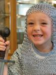 chainmail balaclava on child