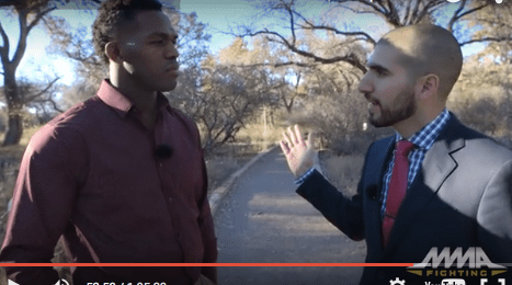 jon jones and ariel helwani in NM NOV 2015