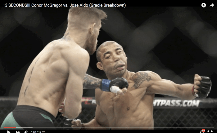 gracie breakdown of mcgregor vs aldo