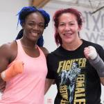 Claressa 'T-Rex' Shields Gives Cyborg Boxing Tips, Including Breathing for Boxing vs MMA
