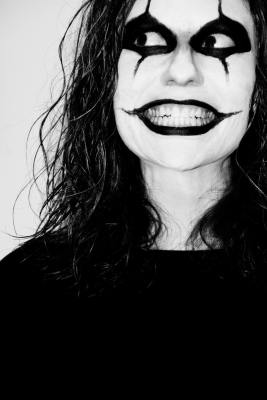 pexels gratisography wearing black white makeup person feeling smiling