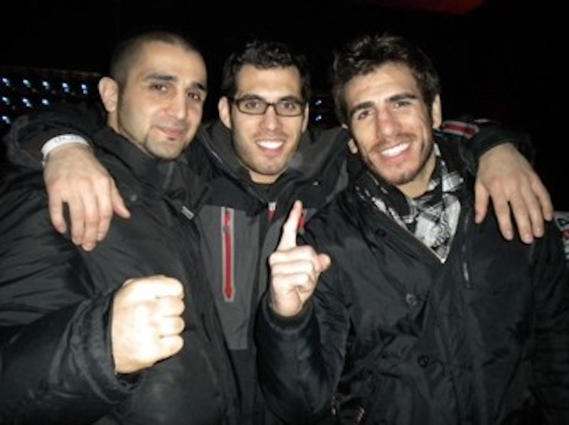 Cornermen Firas Zahabi, Keith Florian and UFC fighter Kenny Florian | photo credit: Cheryl Ragsdale