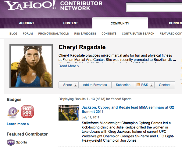 Cheryl Ragsdale Hot 500 Yahoo! June 2011