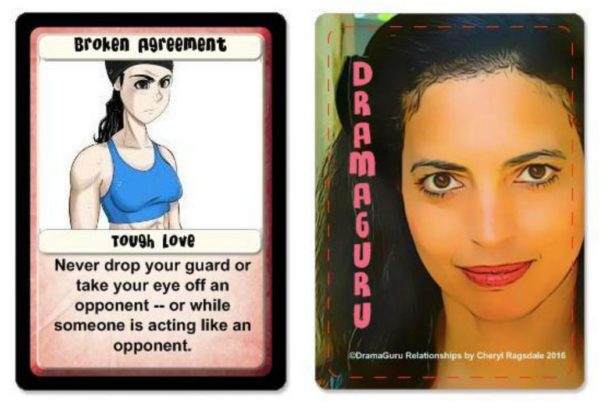 2016 DramaGuru Relationships card 51 tough love by cheryl ragsdale