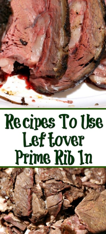 Dinner Leftover Prime Rib makes some of the best next day meals! Leftover Prime Rib Recipes make for filling dinners and lunches out of holiday dinner leftovers.