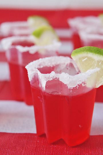 Strawberry Margarita Shots close up