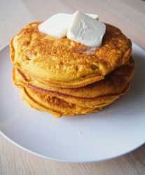 Pumpkin-pancakes-with-butter-on-top