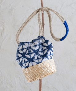 Bolso Korai Natural y Azul Largo