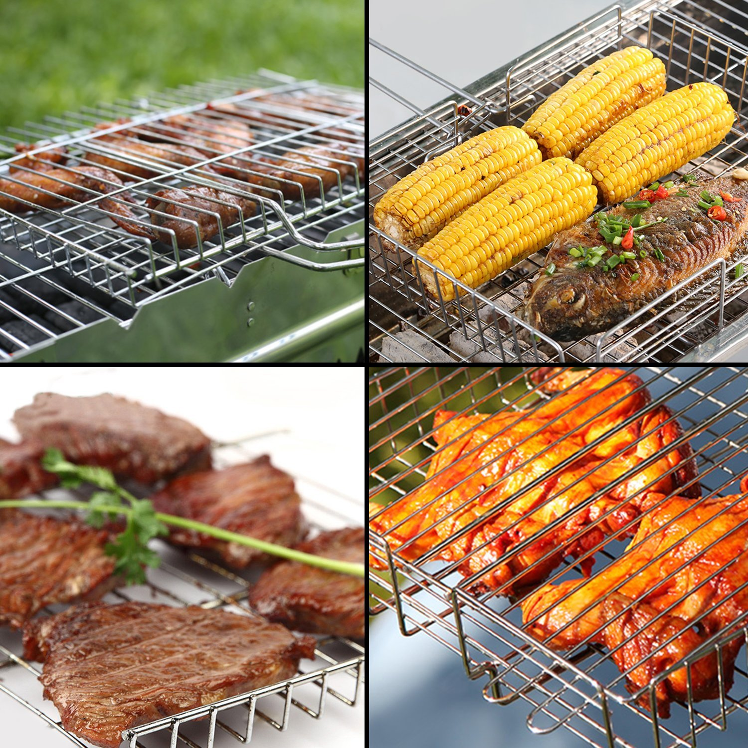 WolfWise BBQ Grill Basket – Big Enough to Use in a LOT of Ways
