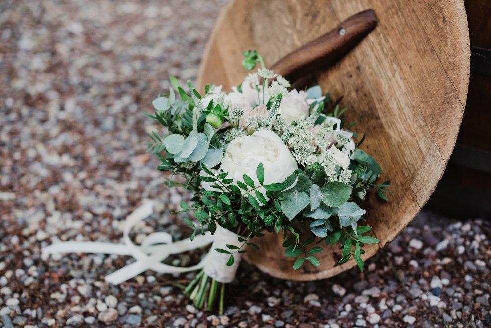 bruidsboeket, vintage, dahlia, dahlia café au lait, romantisch, trouwen, bruiloft, rustiek