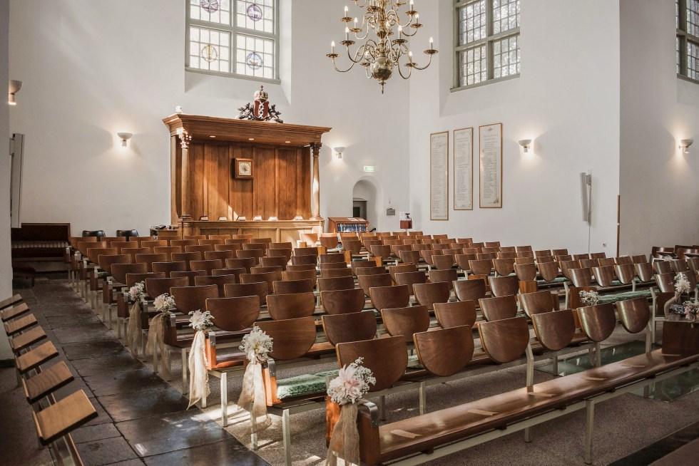 kerk, Amstelkerk, Ouderkerk aan de Amstel, trouwen, bruiloft, bruiloft styling, rustiek, church wedding