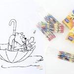free printable. Winnie de Pooh, Knorretje, kleurplaat, traktatie, trakteren, kdv, afscheid, aju paraplu, kinderfeestje, uitdeelkadootje, uitdeelkadootjes, thathomepage