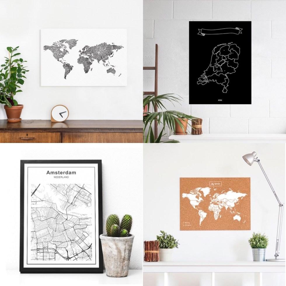 wereldkaart, wereldkaarten, wereldkaarten.nl, stadskaart, kaart Amsterdam, kurk wereldkaart, kurk, landkaart, Nederland, interieur, interieurstyling, thathomepage
