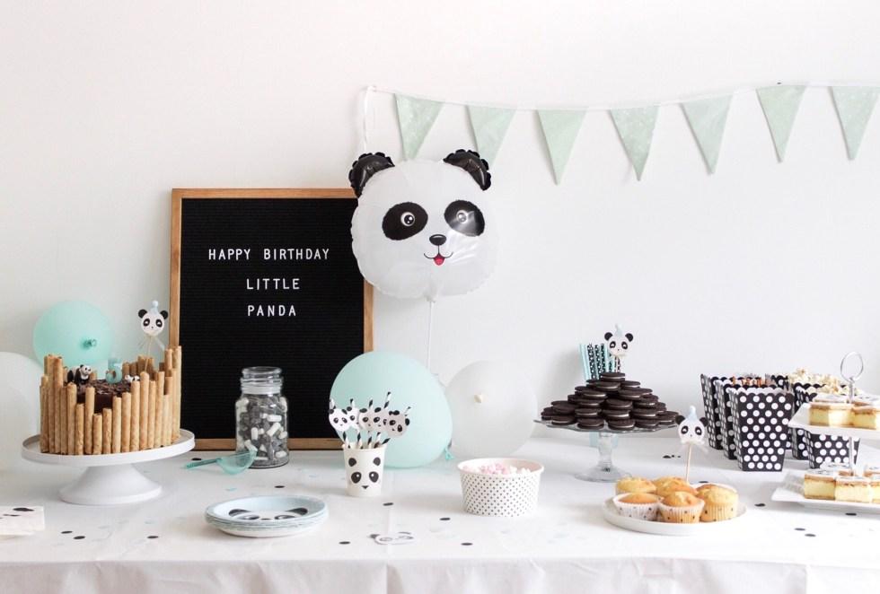panda party, pandafeestje, kinderfeestje, sweet table, verjaardag, feestdecoratie, decoratie, pandataart, inspiratie, thathomepage