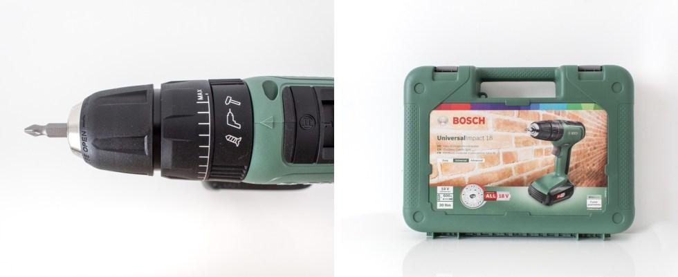 Bosch, UniversalImpact 18, UniversalImpact, combi-boor, boormachine, klopboor, klussen, doe het zelf, opknappen, DIY, boren, boor, thathomepage, (th)athompage, power for all
