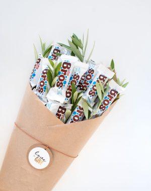 snoepboeket, chocoladeboeket, brosje bloemen, bosje bros, zelf maken, creatief, kadoinspiratie, cadeau inspiratie, thathomepage, (th)athomepage