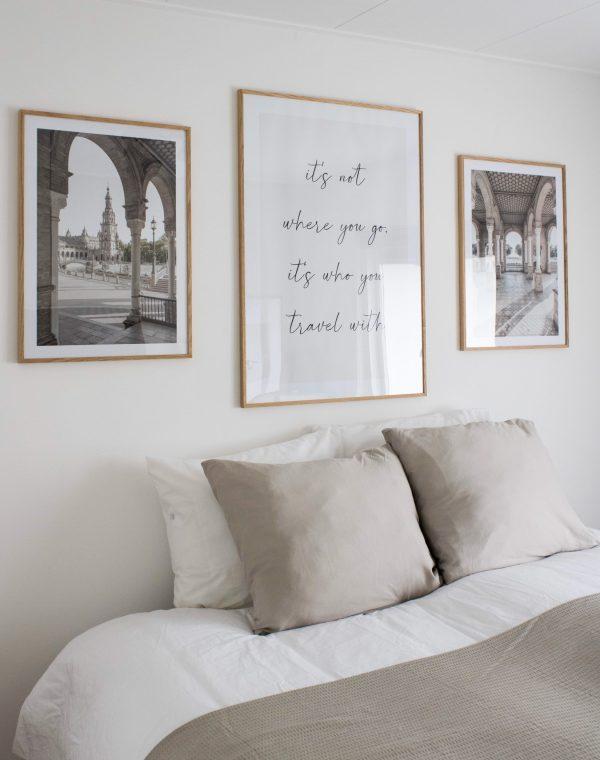 slaapkamer, make-over, slaapkamer decoratie, slaapkamer inrichten, slaapkamerinspiratie, interieurinspiratie, interieurblog, thathomepage, (th)athomepage, wanddecoratie, muurdecoratie, posters, lijsten, eikenhouten lijsten, Gallerix
