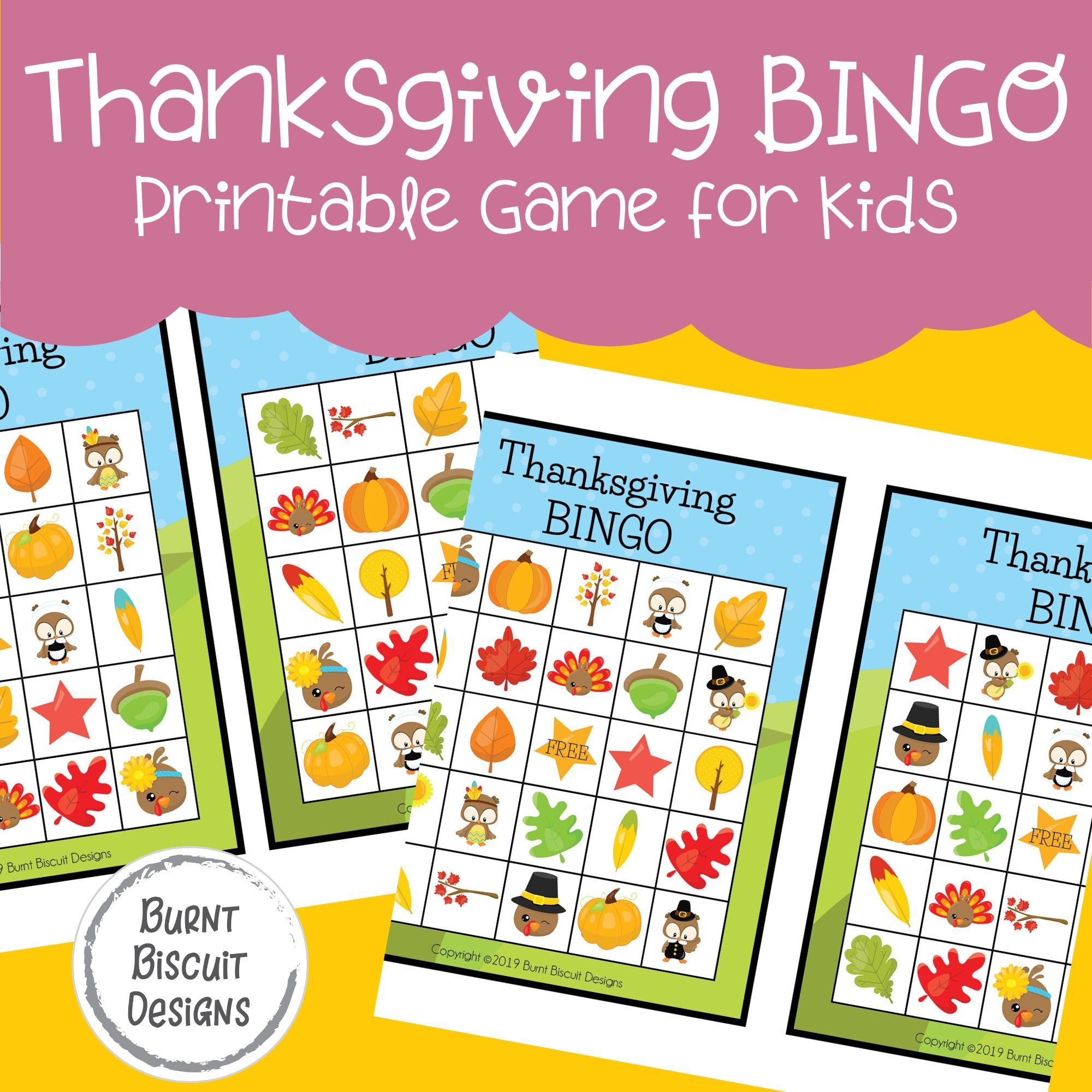 Thanksgiving Bingo Printable Game