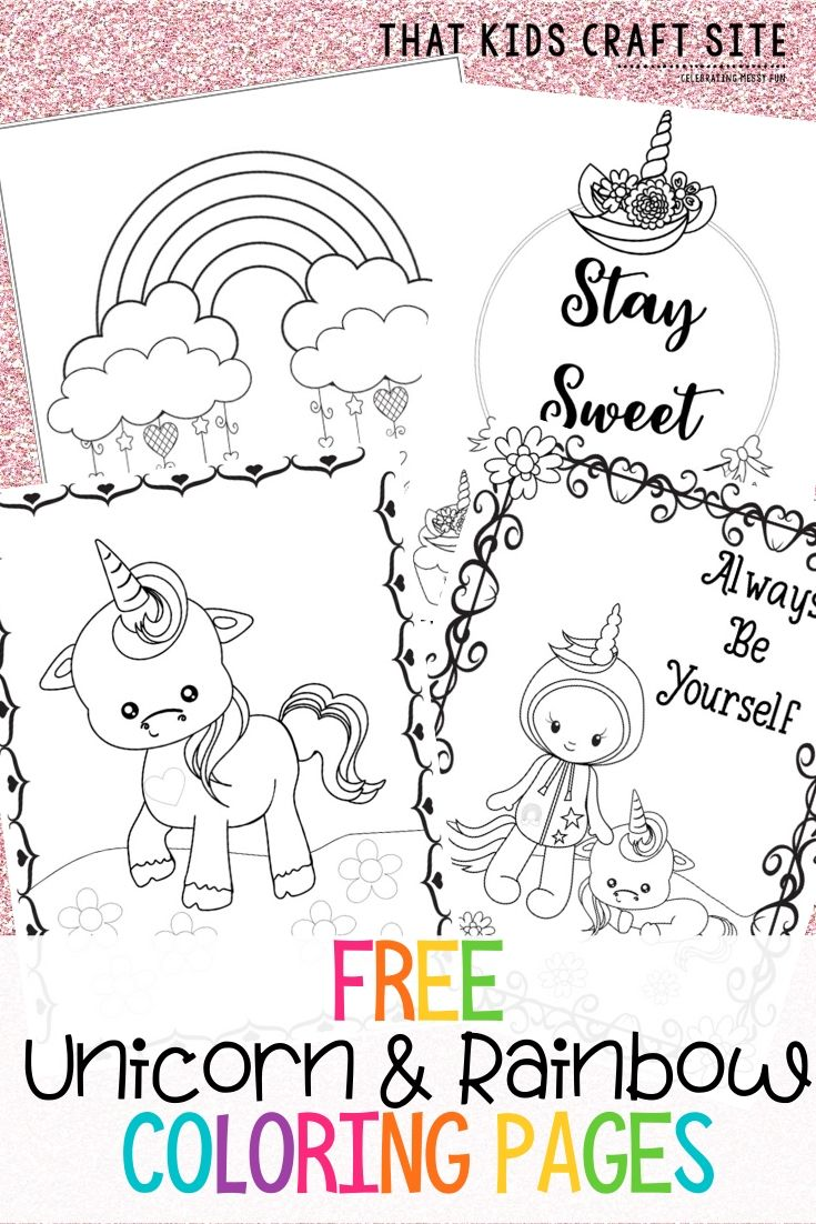 Free Printable Unicorn Coloring Pages That Kids Craft Site