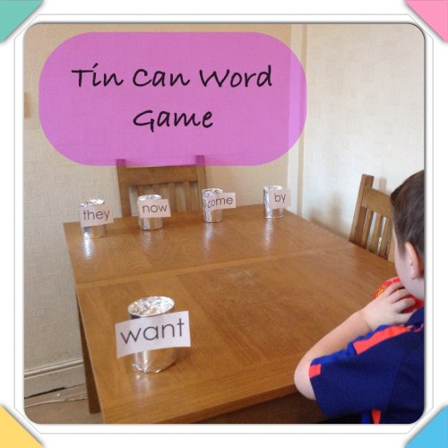 Tin can word game