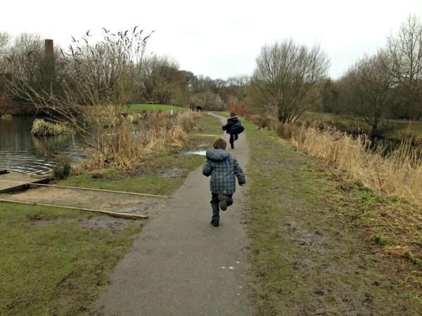 running on path