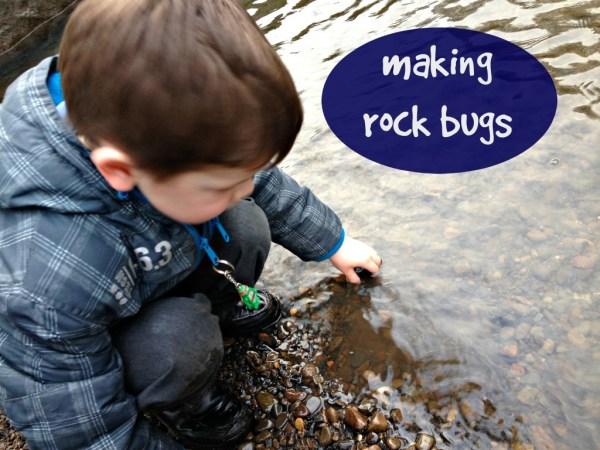 making rock bugs image
