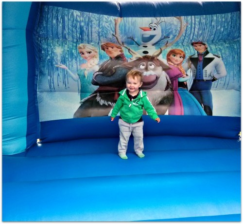 George loved the bouncy castle