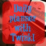Daily planner for children