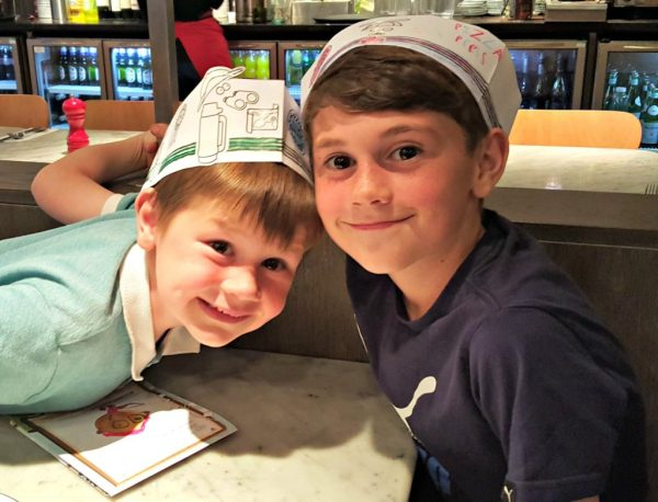 boys at table pizza express