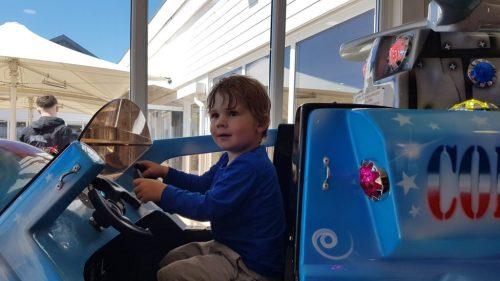 child on ride