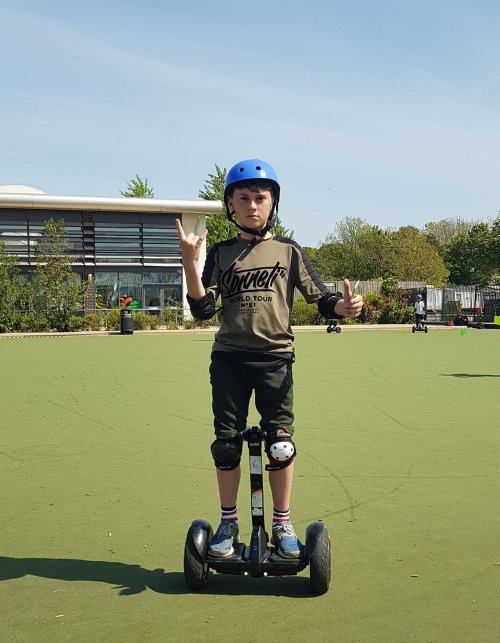 boy on a segway