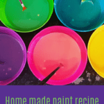 Invitation to play: home made paint