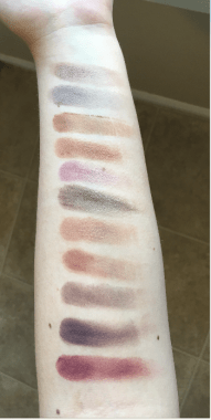 Top to bottom: Barcelona Beach, Friend Zone, Tiki Hut, Tan Lines, Petal Pusher, Taupe Notch, Frappe, Cocoa Bear, Americano, Vintage, Bitten