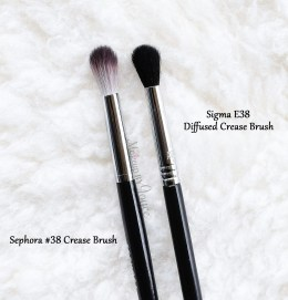 Sephora Collection Pro Featherweight 38 Crease Brush Comparison Review