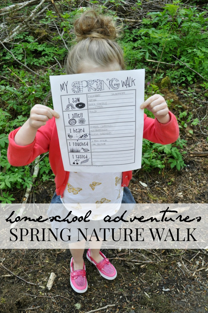 homeschool nature walk