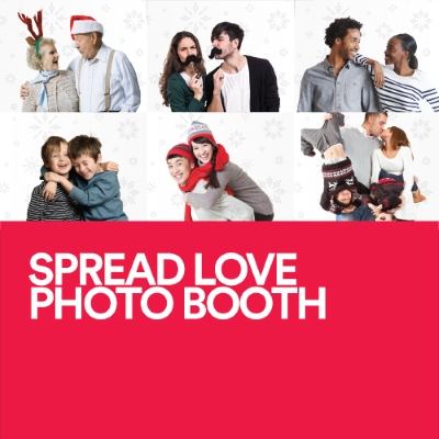 spread love photo booth