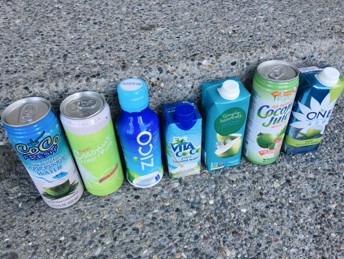 coconut water line up