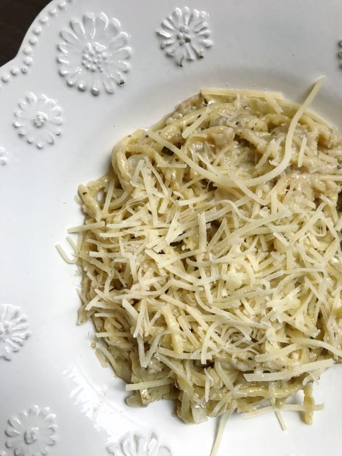 creamy white wine pasta