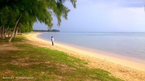 A cyclonic day by the seaside in Mauritius