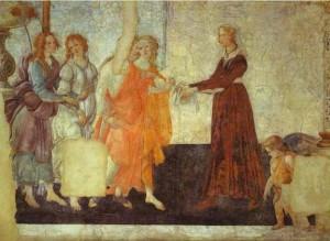 Sandro Botticelli's Venus and Three Graces, 1483-86, Louvre