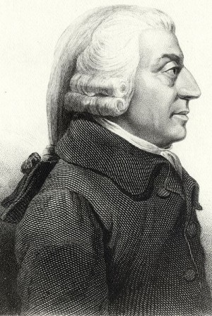 Adam Smith in profile etching, 1787.