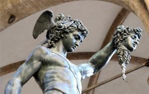 Perseus with Medusa's head, Piazza della Signoria, Firenze