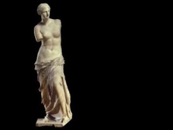 Aphrodite marble statue, known as Venus de Milo, Melos, 100BC, Louvre museum paris