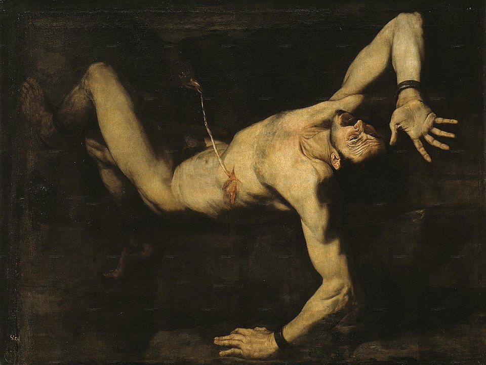 Ribera's Ticio, 1632. At the Museo del Prado