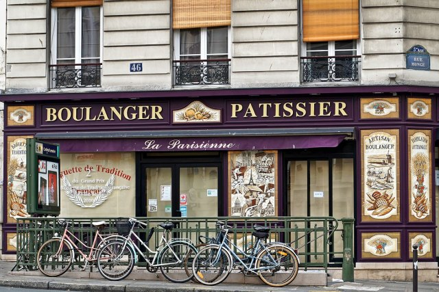 Boulangerie on rue Monge, Paris: shopping locally is a big part of the Parisian lifestyle