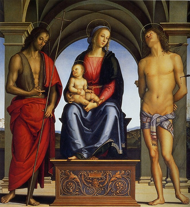 Pietro Perugino's Enthroned Madonna and Christ