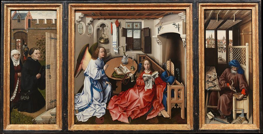The Merode Triptych (1427-1432) – Robert Campin, at the Met's Cloisters (NY)