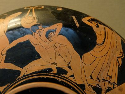 Ancient Greek Athletes at the Gym, 5th century vase