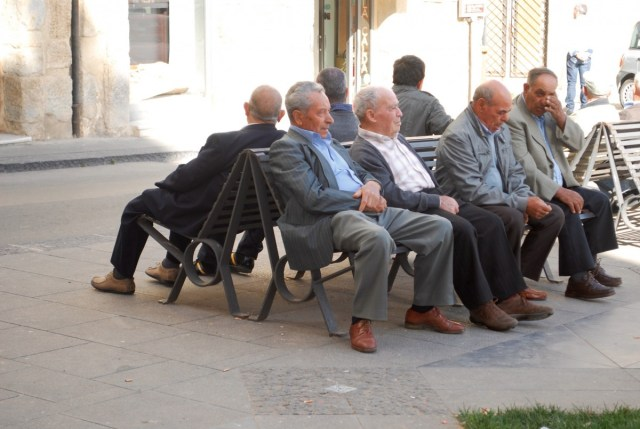 Elderly generation living the Italian Lifestyle