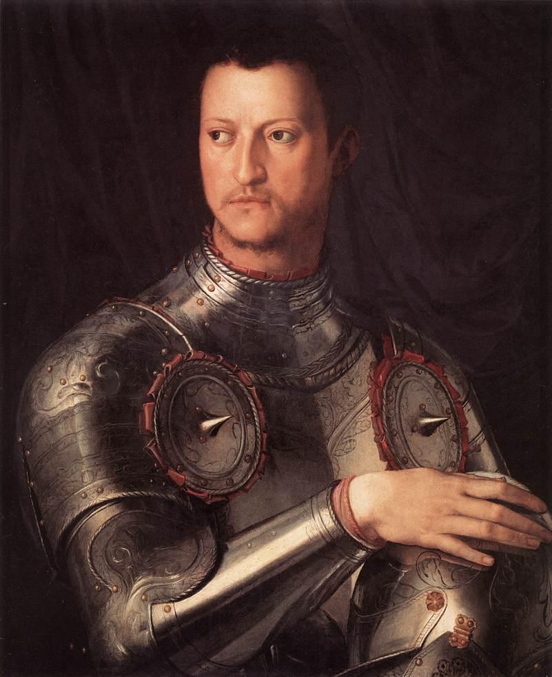 Bronzino portrait of Cosimo de Medici in armor